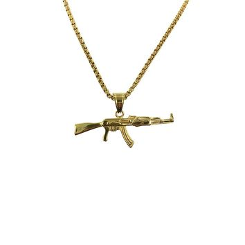 AK47 Necklace (Gold)