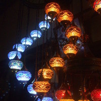 Amazing Turkish Mosaic Lamp Set - Multiple Lamp Sets