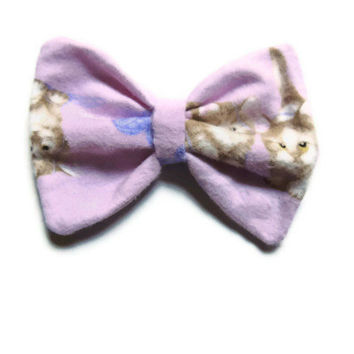 Pastel Playful Kittens Hair Bow