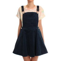 Ark Blue Libby Cord Dungaree Pineafore Dress