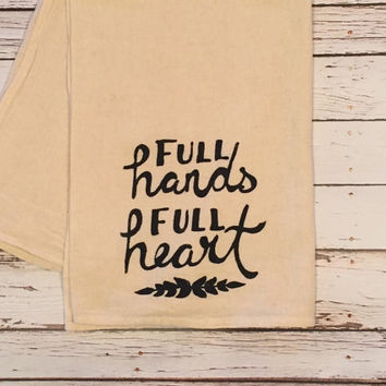 Full Hands Full Heart // Shabby Chic // Kitchen Towel