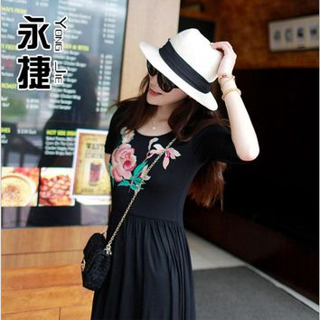 2015 choking mouth peppers European and American Maison Michel word wide brimmed M straw sun hat ceremony summer influx of women