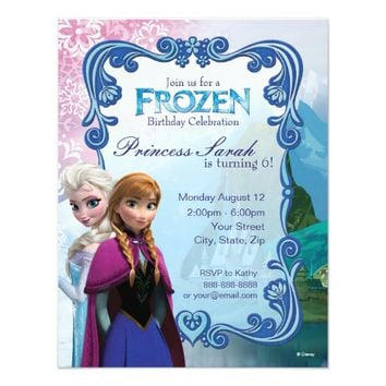 "Frozen Birthday Invitation 4.25"" X 5.5"" Invitation Card"