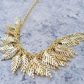 New Leaf Gold Necklace