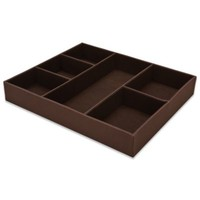 6-Compartment Drawer Organizer in Chocolate