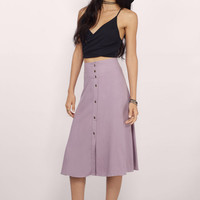 Cute As a Button Midi Skirt $34