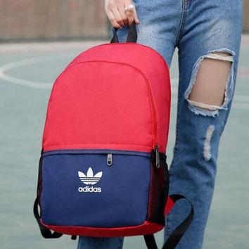 ADIDAS In 2017, the new school has a large size PU leather backpack Laptop bag