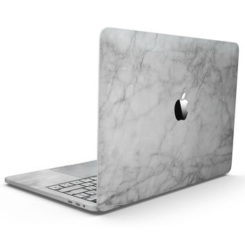 White Scratched Marble - MacBook Pro with Touch Bar Skin Kit