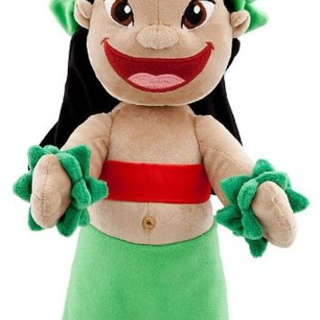 "Disney Store 14"" Hawaiian Lilo Plush Doll Stuffed Toy Gift from Lilo & Stitch"