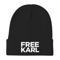 Free Karl - Workaholics Inspired Embroidered Beanie