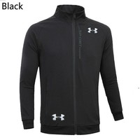 Under Armour 2019 new men's breathable and comfortable sports and fitness windproof jacket Black