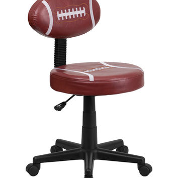 Flash Furniture Mobile Adjustable Round Seat Football Style Computer Home Office Desk Armless Task Chair