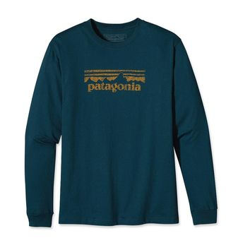 Patagonia Men's Long-Sleeved Stamp Logo T-Shirt