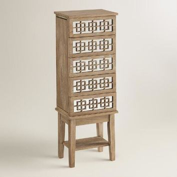 White Wood Lavarre Jewelry Armoire