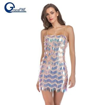 a7478281 Summer Sexy Elegant Party Short Strappless Dress sequins bodycon