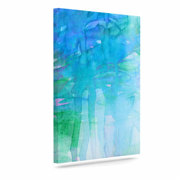 "Ebi Emporium ""Childlike Wonder"" Blue Pastel Canvas Art"