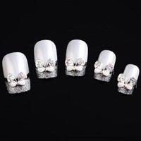 Yesurprise Silver White Butterfly 10 pieces Silver 3D Alloy Nail Art Slices Glitters DIY Decorations