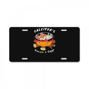 calcifer's bacon and eggs License Plate