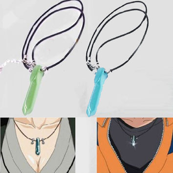 Hot Japanese Anime Naruto uzumaki naruto Jade Pendant Necklace 2 Colors 1PC Baby Gifts Christmsa Gifts Free Shipping IA907 P