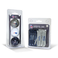 New England Patriots NFL 3 Ball Pack and 50 Tee Pack