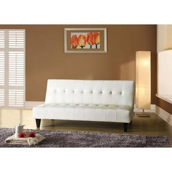 Faux Leather Adjustable Futon Sofa