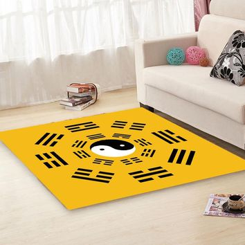 TaiChi gossip printed carpets Living room study square Taoism blanket Buddhist practice floor Mat Carpet Meditation Cushion Rug