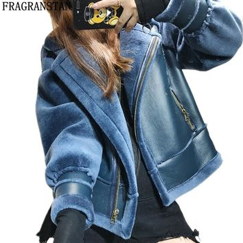 Trendy Women Autumn Winter New Fashion Cashmere Coat Locomotive Style Warm Wool Jacket Ladies High Quality Brand Plus Size Outwear Y219 AT_94_13