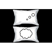 Thinking Cloud Pillows Standard Size 21 x 30 Matching Couple Pillowcases