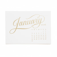 2016 Sugar Paper Kate Desk Calendar, White Refill