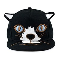 MP Fashion Black Cat Face and Cat Ear Baseball Cap 050334 C0605 Color Black