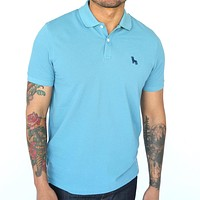 Turkish Blue Cotton Pique Polo