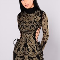 Dynasty Studded Dress - Black