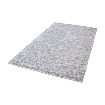 Alena Handmade Cotton Rug In Black And White - 5ft x 8ft