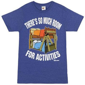 Step Brothers So Much Room For Activities Licensed Adult Unisex T-Shirts - Blue