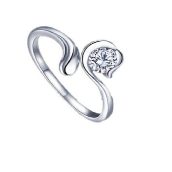 Zodiac Star Silver Plated Ring