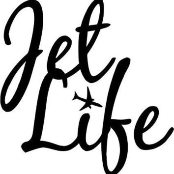 Jet Life Location Travel Car Window Ipad Tableet PC Notebook Cumputer Decal Sticker