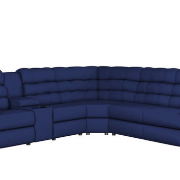 Large Reclining True Sectional Sleeper Sofa with Console