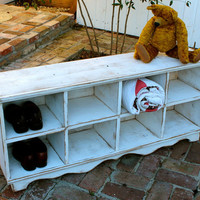 Organization - Cubby Bench - Storage Furniture - Entryway - Hall - Shoe Storage - Toys - Cubbies - Cubbyholes