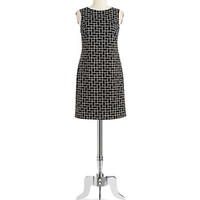 Vince Camuto Geo Print Shift Dress