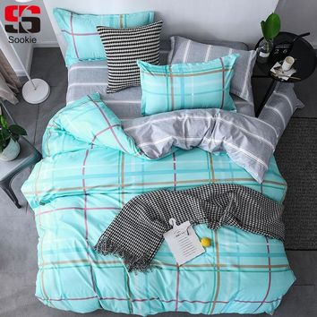 Sookie Plaid Bedding Set 3/4pcs Star Printing king queen size Duvet Cover Set Brief Style Bedding Decoration Children Bed Linen