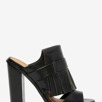 Nasty Gal Can't Get Enough Fringe Mule