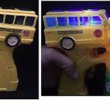 Party Favors Battery Operated School Bus Bubble Gun With Light And Music