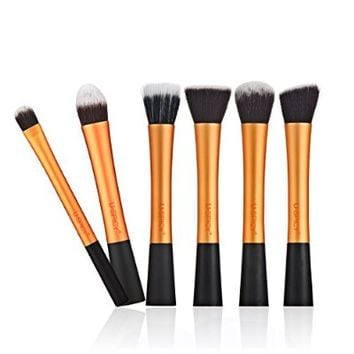 USpicy Cosmetics Makeup Brushes, 6-Piece Professional Makeup Brush Set with Gift Box, Makeup Kits (Violet)
