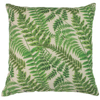Leaf 18x18 Cotton Pillow, Green, Decorative Pillows