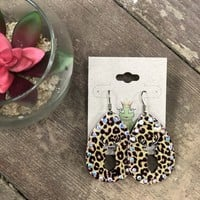 Leopard deer earrings