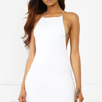 Reign Diamond Dress - White