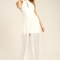 My Beloved White Lace Maxi Dress
