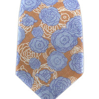 Camellia - Sand/Sky Blue (Linen Skinny) from TheTieBar.com - Wear Your Good Tie Everyday