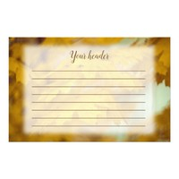 Yellow autumn maple leaves. Lined. Stationery