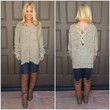 Crossing Over Thick Knit Sweater - TAUPE